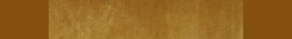 Benadrukte materialen 2-zits retro bank Vez oker kleur