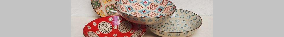 Benadrukte materialen 4 Boheemse pastaborden