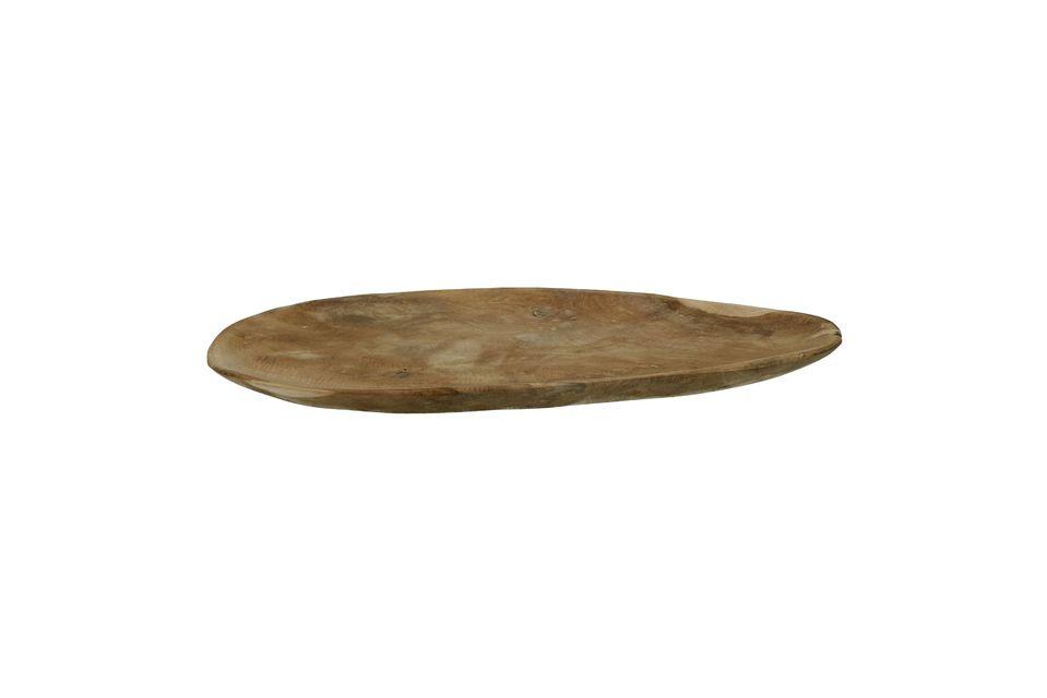 Geef karakter aan de presentatie van uw gerechten met het Algarve-ovale bord van teakhout