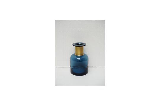 Apothekersblauwe vaas met gouden hals