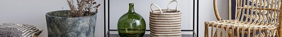 Benadrukte materialen Authon glazen vaas