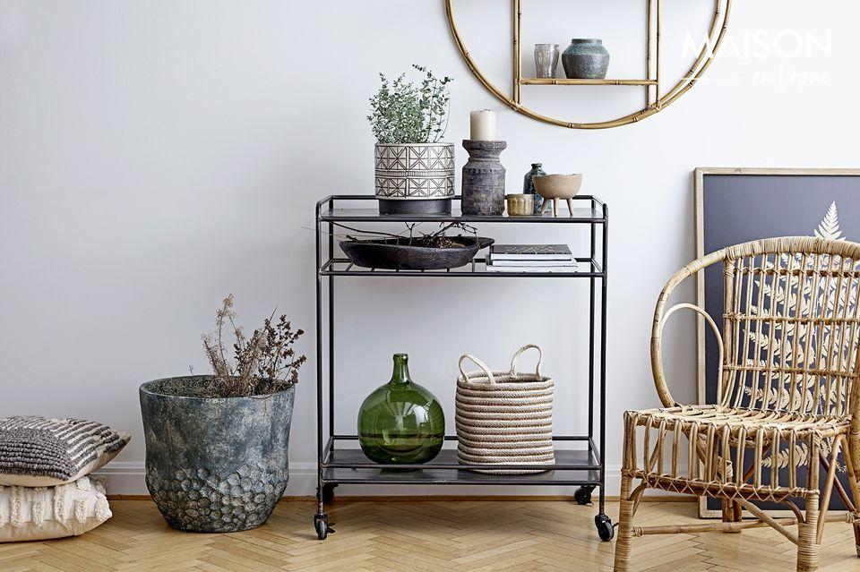 Een transparante vaas die het mooiste effect zal hebben op uw interieur