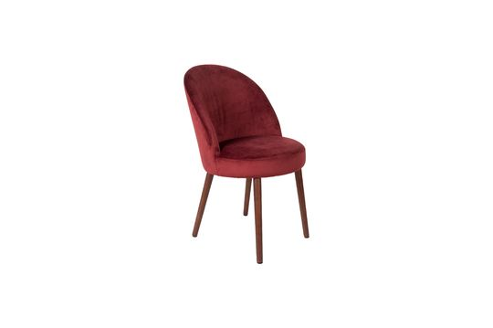 Barbara-stoel in rood fluweel