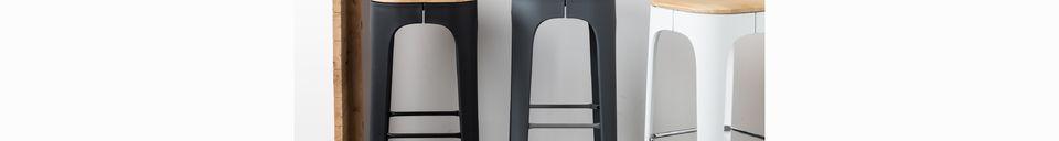 Benadrukte materialen Barkruk Up-High wit