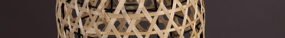 Benadrukte materialen Boo-Hanglamp in natuurlijke kleur
