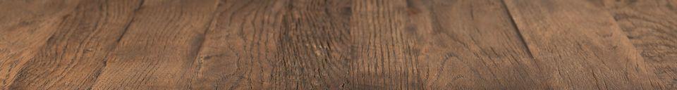 Benadrukte materialen Braza toonbanktafel vierkant bruin
