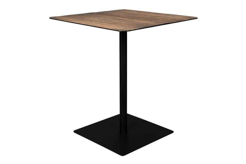 Braza toonbanktafel vierkant bruin - 5