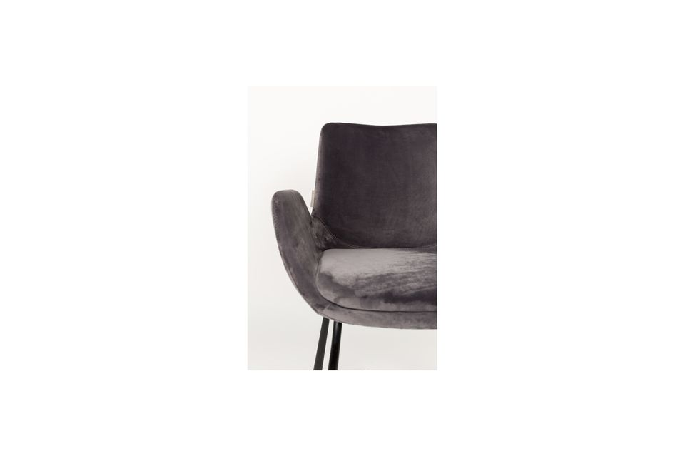 Brits fauteuil donkergrijs - 6