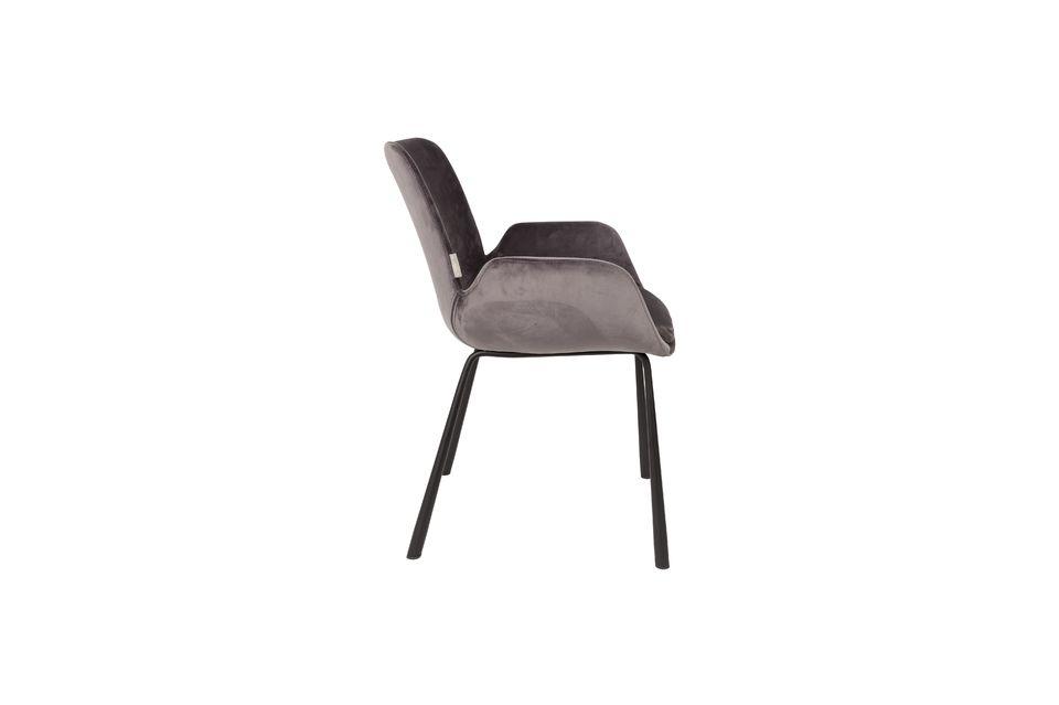 Brits fauteuil donkergrijs - 9