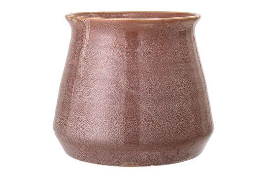 Bruin steengoed Haucourt-potje Productfoto