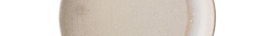 Benadrukte materialen Columbine steengoed plaat
