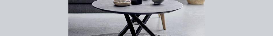 Benadrukte materialen Connor-koffietafel