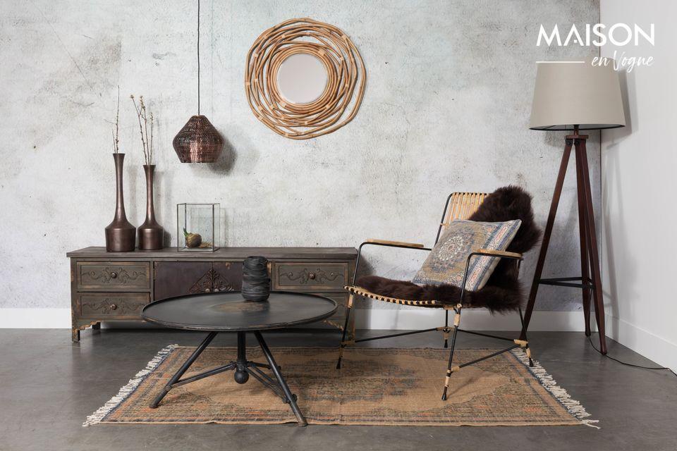 Een Scandinavisch geïnspireerde koperen hanger voor een chique interieur