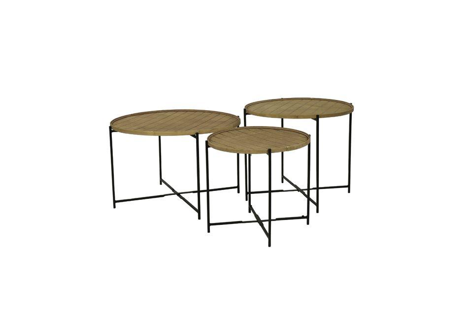 Het kan worden aangepast aan een metalen structuur om een afneembaar tafelblad te worden