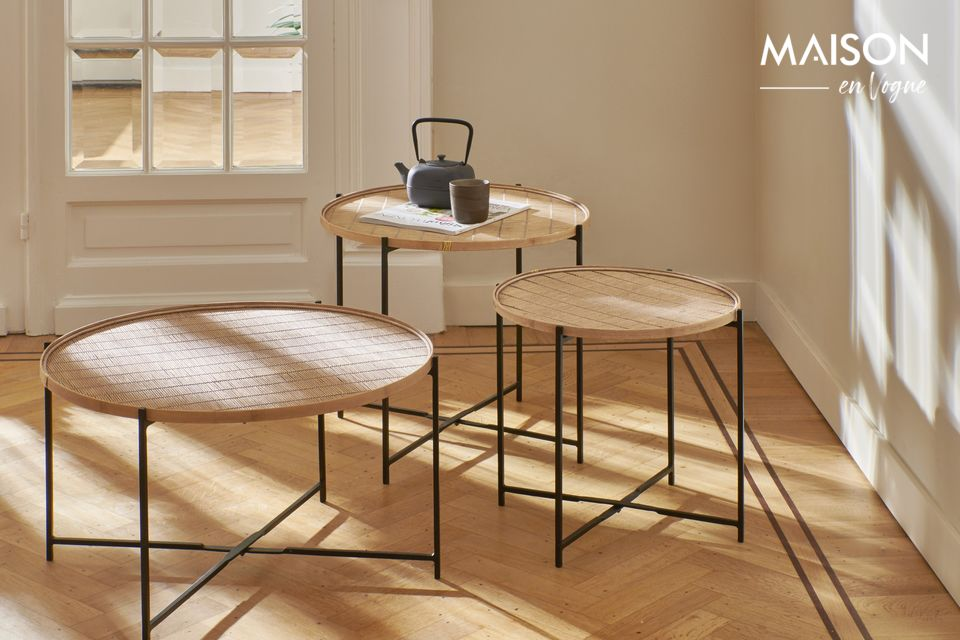 Het ontwerp behoudt de natuurlijke charme van bamboe in een verfijnde en zeer authentieke stijl