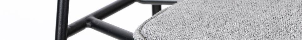 Benadrukte materialen Donny barkruk grijs
