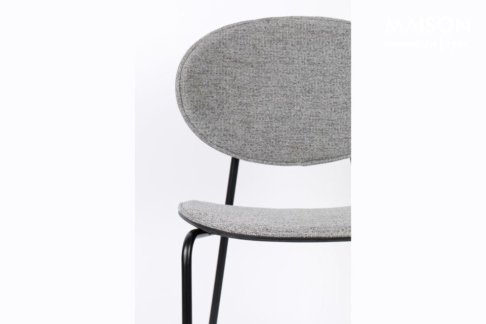 Deze Donny Grey Counter Stool van White Label Living is gemaakt van polyester stof in de zitting en
