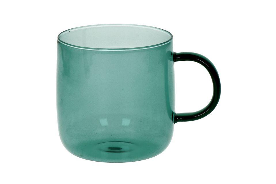 Doos van 4 borosilicaat glazen bekers Lasi