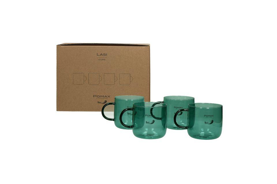 Deze 4 koffiekopjes zijn 8 cm hoog en 8,5 cm in diameter