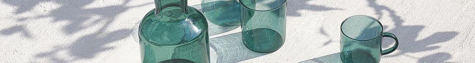 Benadrukte materialen Doos van 4 borosilicaat glazen bekers Lasi