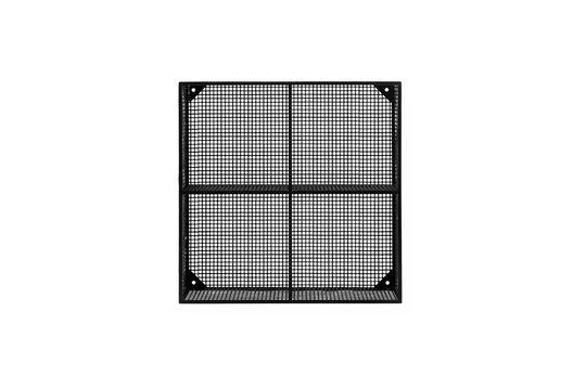 Draadloze zwarte metalen plank met 4 compartimenten