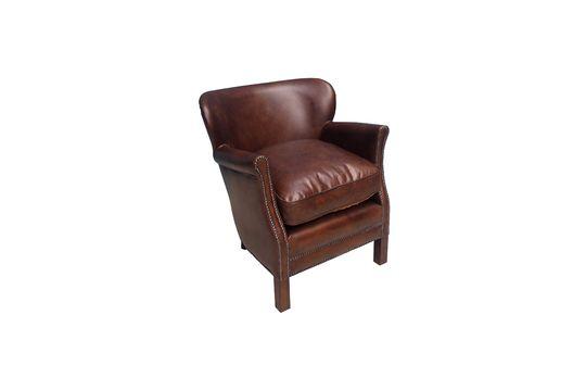Draaibare lederen fauteuil