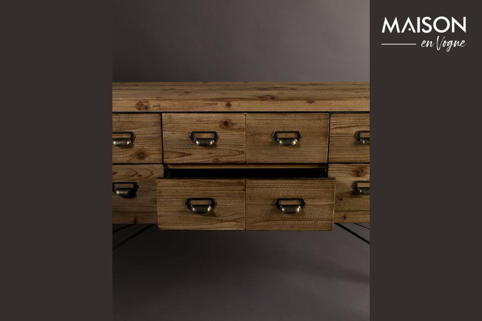 Dressoir Zes met houten laden - 8