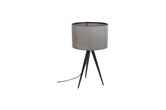 Driepoot tafellamp zwart en grijs Productfoto