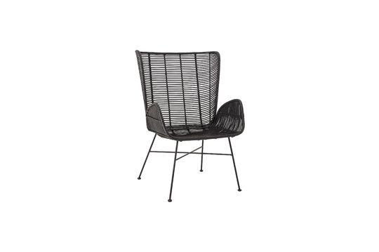 Erika zwarte loungestoel in rotan Productfoto