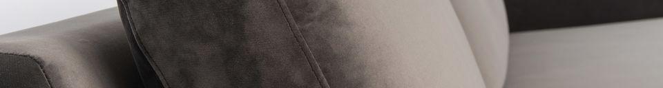 Benadrukte materialen Fiep-bank links in grijs fluweel