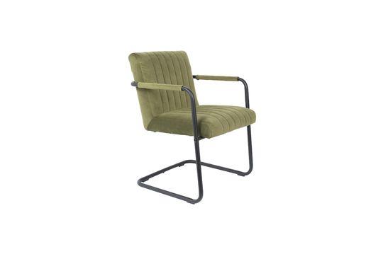 Fluwelen fauteuil Gestikte olijf