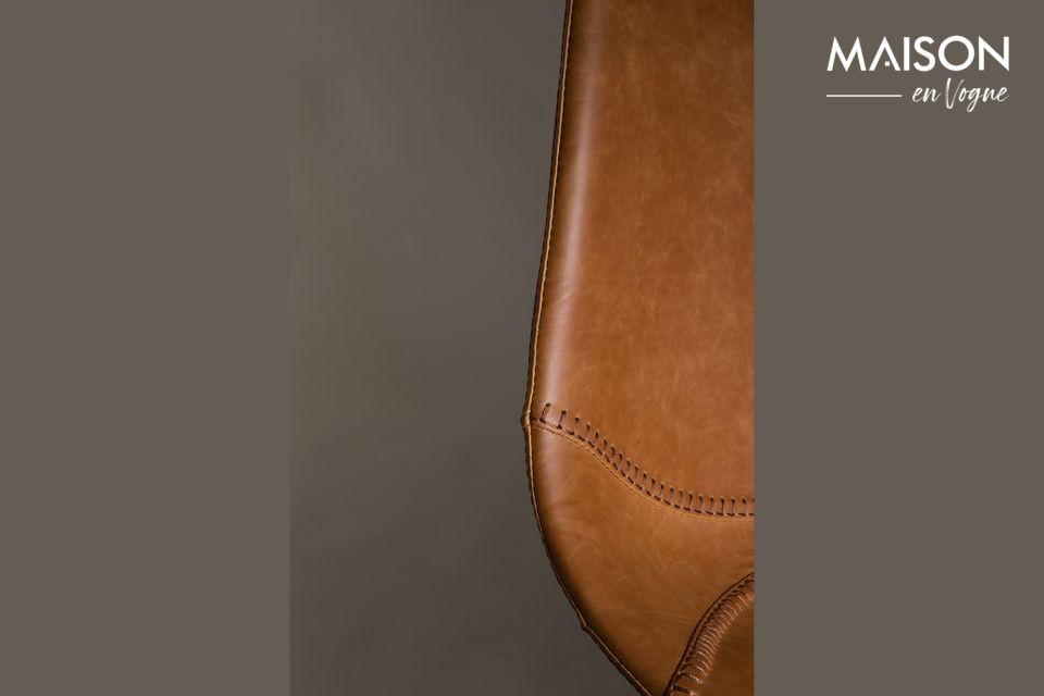 Dutchbone presenteert een lederen barkruk model met pure en vintage lijnen