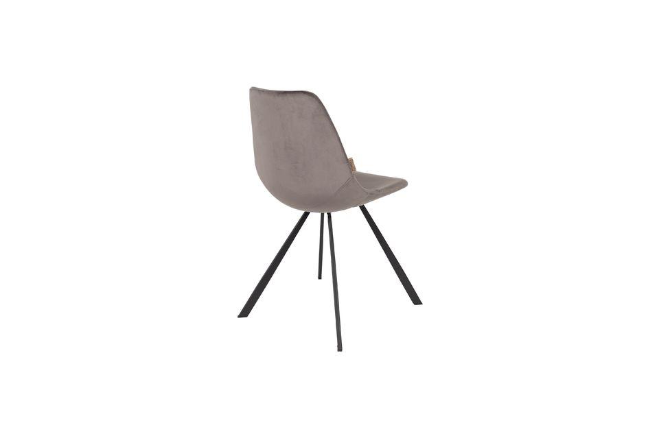 Franky grijze fluwelen stoel - 6