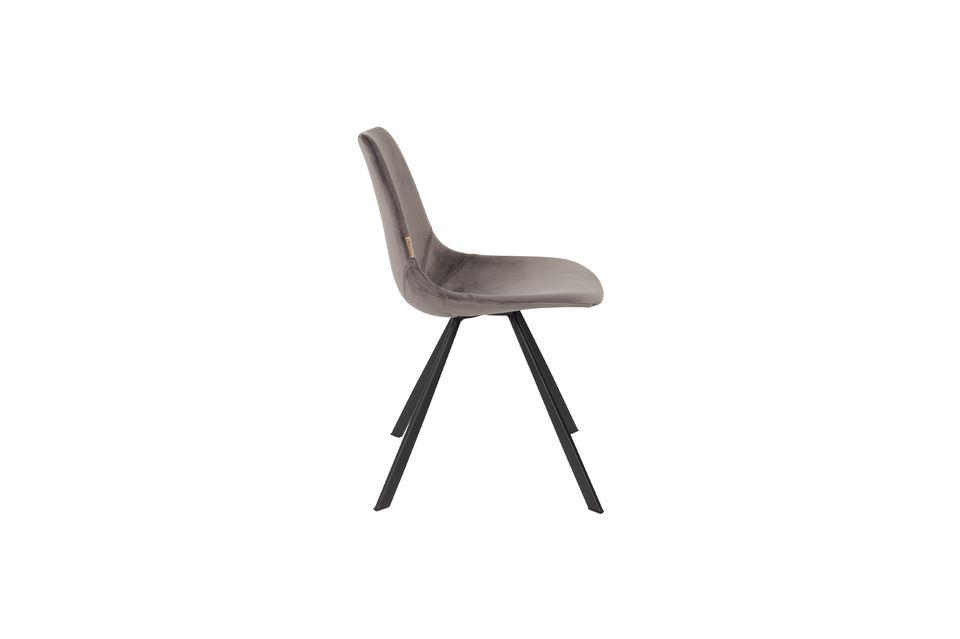Franky grijze fluwelen stoel - 7