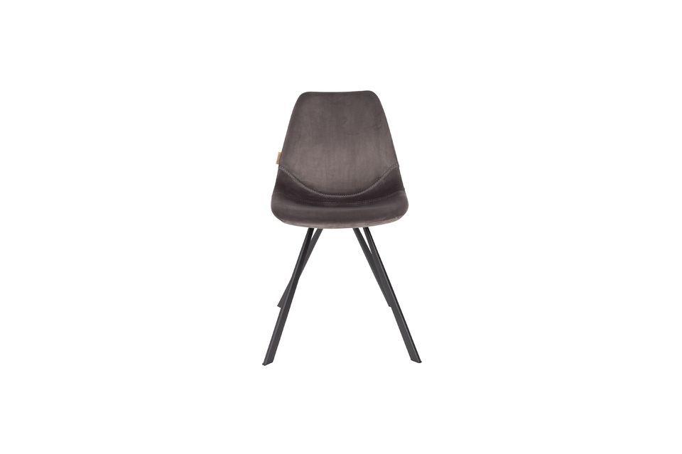 Franky grijze fluwelen stoel - 8