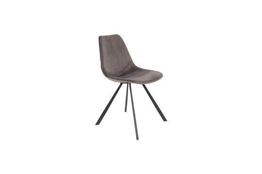 Franky grijze fluwelen stoel Productfoto