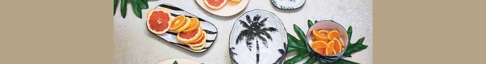 Benadrukte materialen Fréthun porseleinen soepbord palm Fréthun