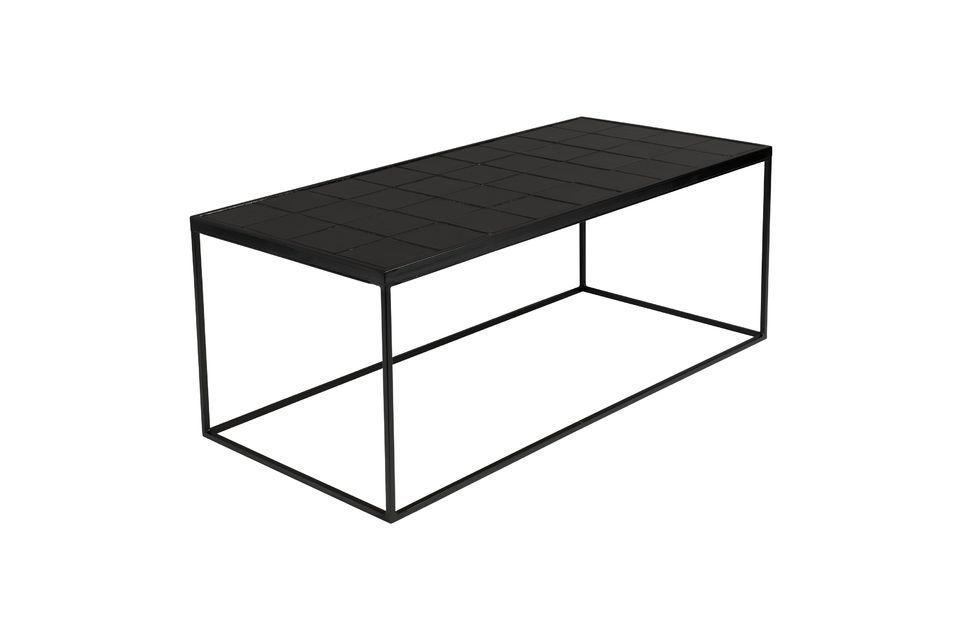 Geglazuurde zwarte koffietafel - 4