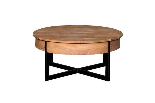 Gegoten ronde salontafel met 2 lades Productfoto
