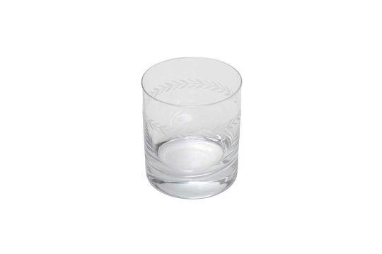 Gegraveerd Laurier-whiskyglas