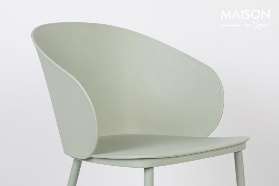 Een stoel met een minimalistische uitstraling