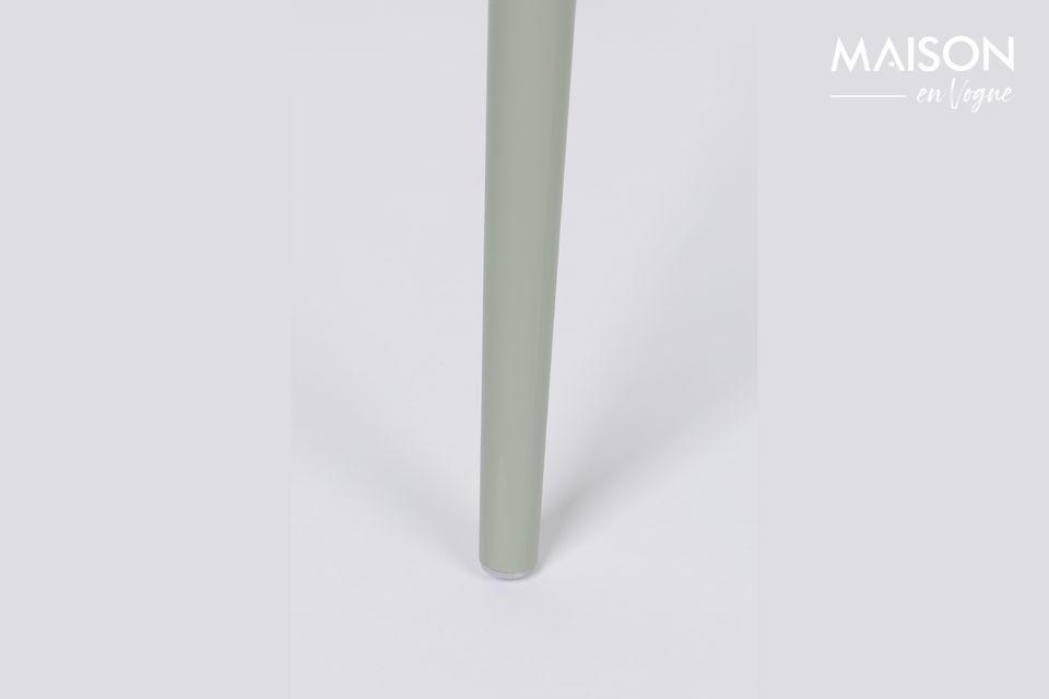 Zijn omwikkelbare Polypropyleen zitting wordt ondersteund door zeer minimalistische gepoederlakte