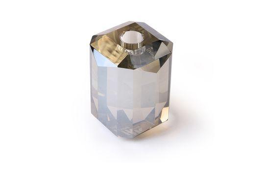 Glazen kandelaar Kristalgrijze diamant Productfoto