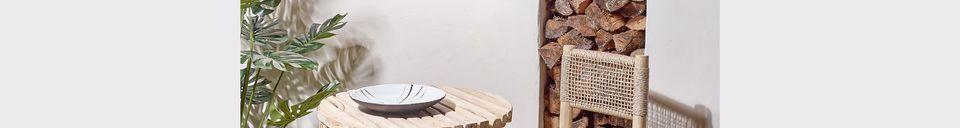 Benadrukte materialen Havana teakhouten tafel