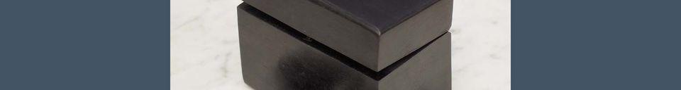 Benadrukte materialen Houten Bouhey domino doosje met messing details