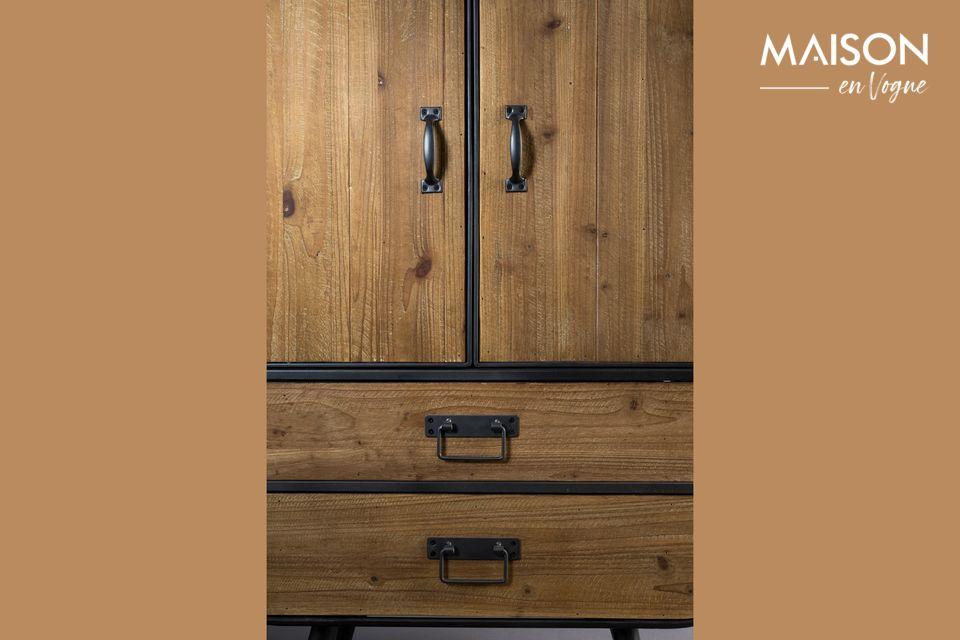 De mix van hout en metaal cultiveert de industriële en vintage kant en de mooie vormen zorgen