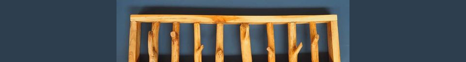 Benadrukte materialen Kapstokken Gigny Wood