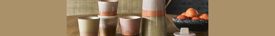 Benadrukte materialen Keramisch koffiezetapparaat 70's