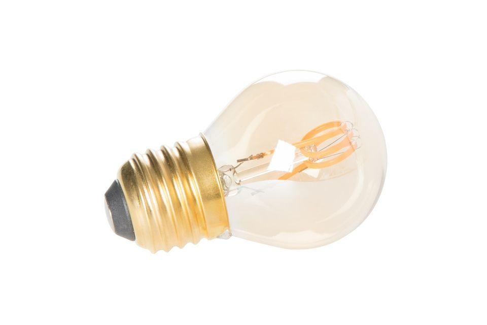 Verlicht uw interieur met een warm licht met de klassieke gouden minilamp