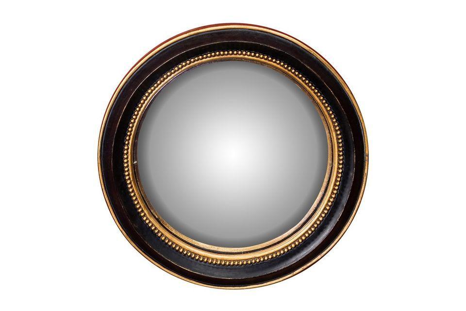 Chehoma\'s Mirabeau bolle spiegel biedt u de mogelijkheid om te kiezen voor soberheid en elegantie